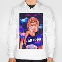 artrave Hoodies featuring Welcome to the artRAVE! by Helen Green