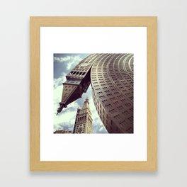 New York Clock Tower Framed Art Print