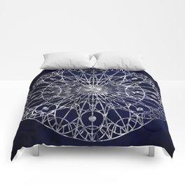 Rosette Window - Midnight Blue Comforters