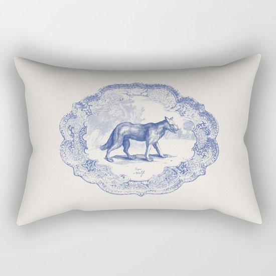 DelftWare Wolf Rectangular Pillow
