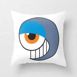 Eyeball Smirking Throw Pillow