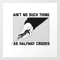 Crooks Art Print