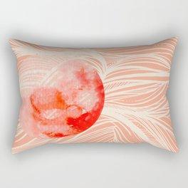 Red Moon tidals Rectangular Pillow