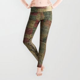State of Illinois Map (1836) Leggings