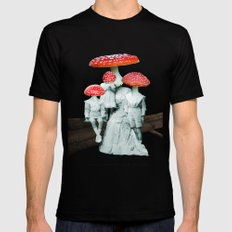 amanita muscaria with children Black Mens Fitted Tee LARGE