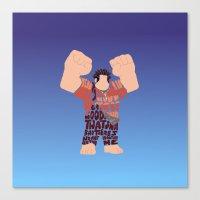 wreck it ralph Canvas Prints featuring Ralph by pokegirl93