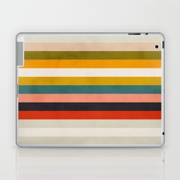 modern abstract stripe geometric Laptop & iPad Skin
