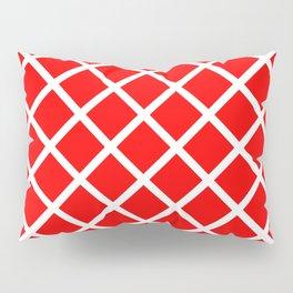 Criss-Cross (White & Red Pattern) Pillow Sham