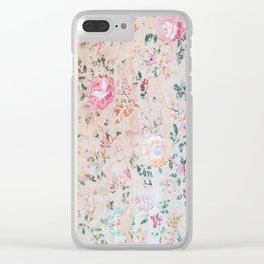 vintage wallpaper Clear iPhone Case