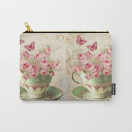 Tea Flowers #4 Carry-All Pouch