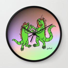 Let's Dance Iguana Style Wall Clock