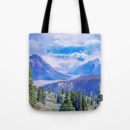 Neverland mountains Tote Bag