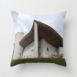 Chapelle Notre-Dame-du-Haut | Le Corbusier Throw Pillow