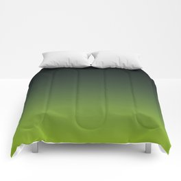 Ombre   Charcoal Grey and Lime Green Comforters