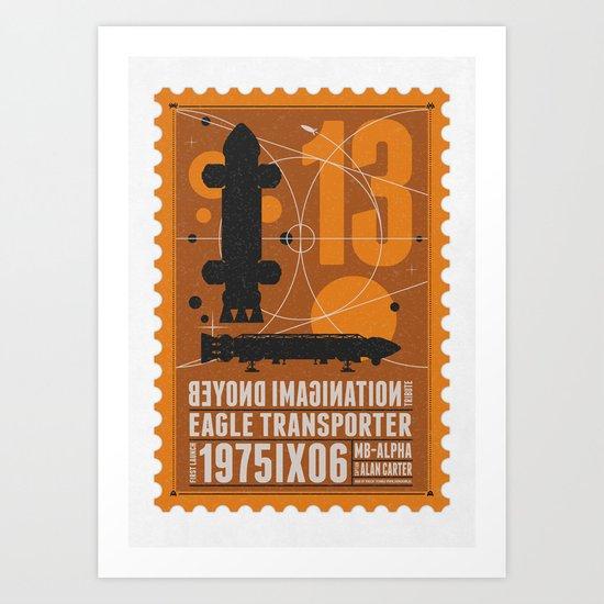 Beyond imagination: Space 1999 postage stamp  Art Print