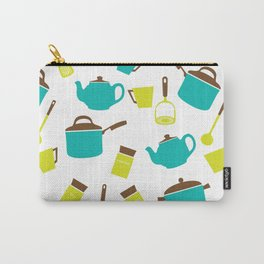 Kitchen Utensils, Cookware, Cutlery - Blue Green Carry-All Pouch