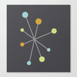 Mid Century Modern Atomic Age Pattern Canvas Print