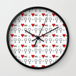 woman woman 3 Wall Clock
