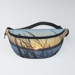 Sunset Sea Grass Fanny Pack