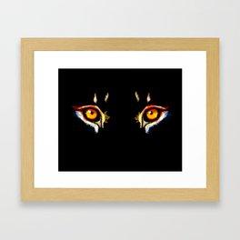 Lion Eyes Framed Art Print