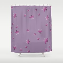 Periwinkle little star Shower Curtain