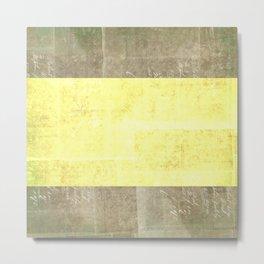 Goldy Blocked | Minimalist | Abstract | Modern | Shapes | Geometrix Metal Print