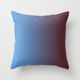 Colorful Gradient Blue 2 Throw Pillow