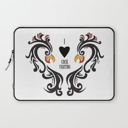 I Love Cock Fighting Laptop Sleeve