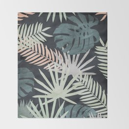 Tropicalia Night Throw Blanket