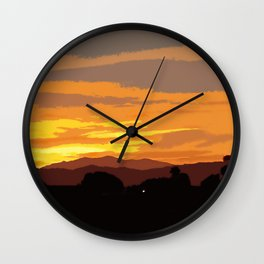 Oil Paintings in A Sunset Wall Clock