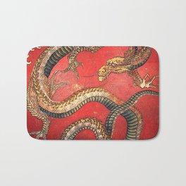Dragon by Hokusai Bath Mat