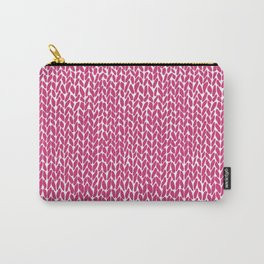 Hand Knit Hot Pink Carry-All Pouch
