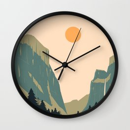 Yosemite Valley Wall Clock