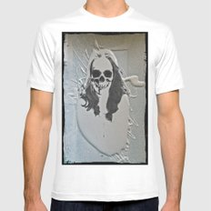 wet paint lady skull Mens Fitted Tee White SMALL