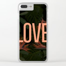 LOVE in the Forest Clear iPhone Case