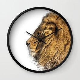 Lion Head Splatter Wall Clock