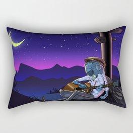 The blue cicada Rectangular Pillow