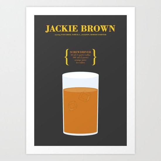 JACKIE BROWN _MOVIE COCKTAIL_Tarantino  Art Print