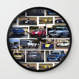 Historic Car Collage Wall Clock
