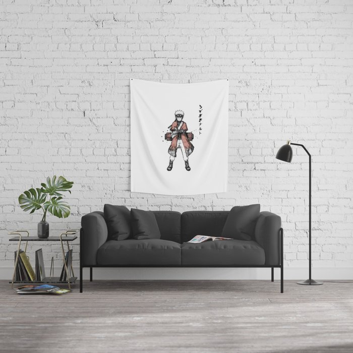 Sage Ink Wall Tapestry