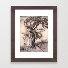 Art by Arthur Rackham from a rare 1917 edition of the Brothers Grimm fairy tales Framed Art Print