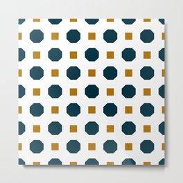 Vintage geometric on white Metal Print