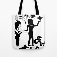 egyptian Tote Bags featuring Egyptian by Inka
