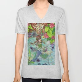 Mermaid Escape Unisex V-Neck