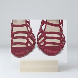 Red Sandals Mini Art Print