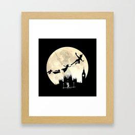 Peter Pan FullMoon Over London Framed Art Print