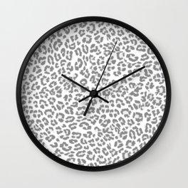 Leopard Dream Grey Wall Clock