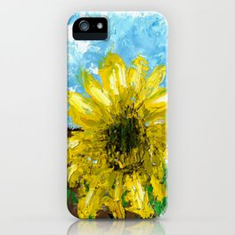 Fenced Sunflower iPhone Case
