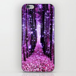 Magical Forest Pink & Purple iPhone Skin