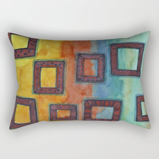 Gorgeous View through several Frames Rectangular Pillow